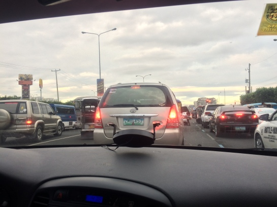 the usual traffic jam in Manila