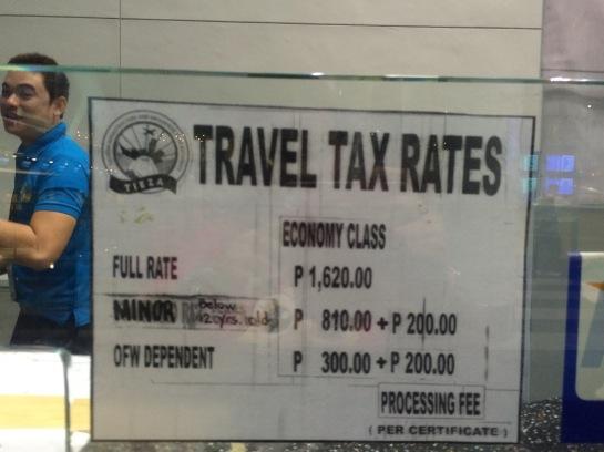 Travel Tax Rates