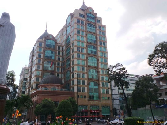 Buildings near Saigon Notre-Dame Basilica
