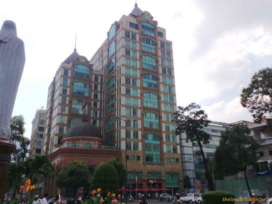 Buildings near Saigon Notre-Dame Basilica