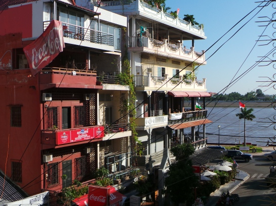 Sisowath Quay with restaurants