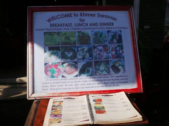Khmer Saravan's Menu