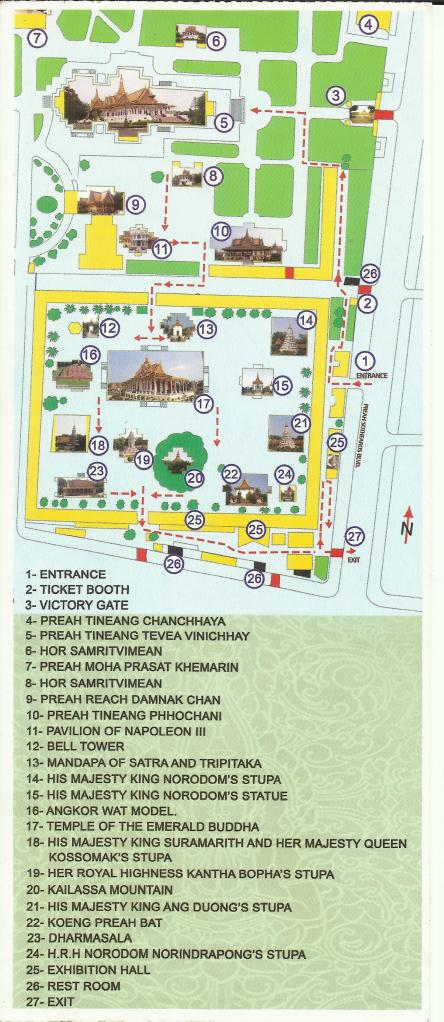 At the Entrance, they will hand to you a free Royal Palace Guide and Map