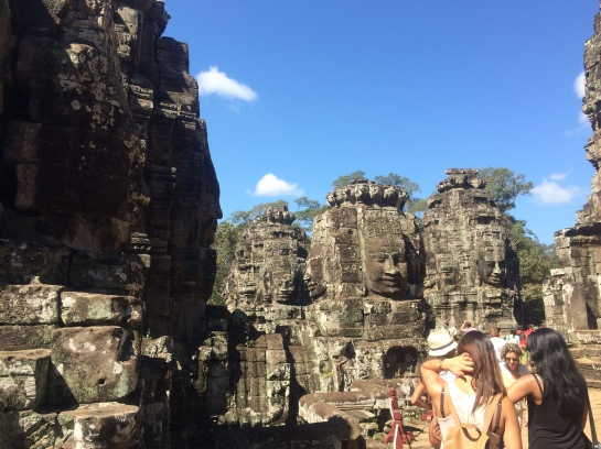 Stone faces in Bayon Temple