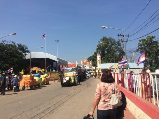 The walk towards the International Border of Thailand