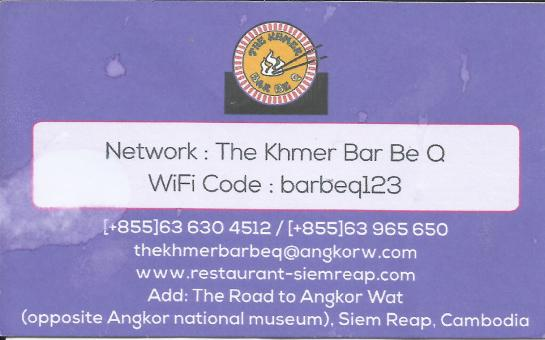 Khmer BarbeQ Contact Details