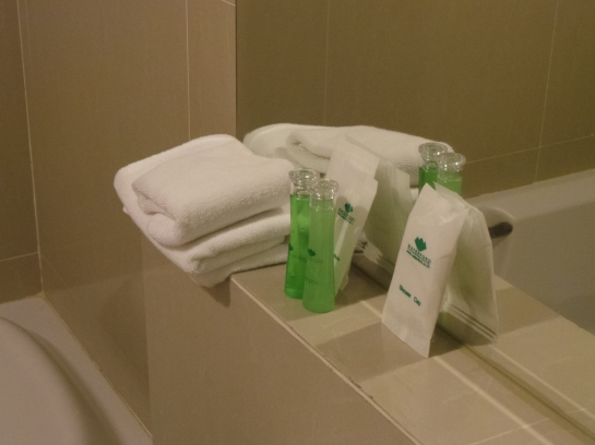 Toiletries and some towels