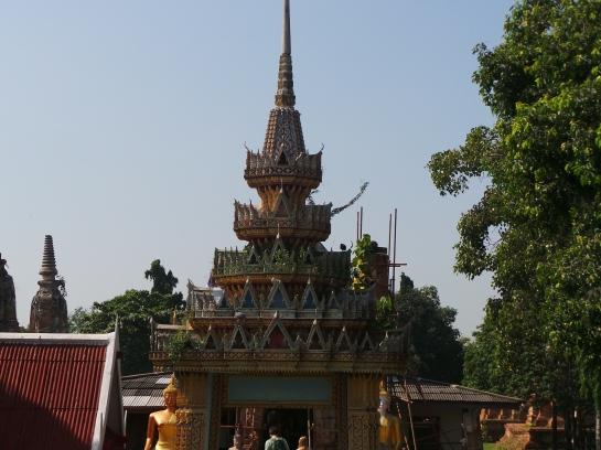 View on top of Wat Phu Khao Thong