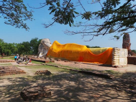 The Reclining Buddha in Ayutthaya