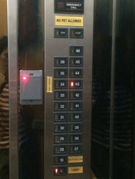 The Lift with Access Card Detector