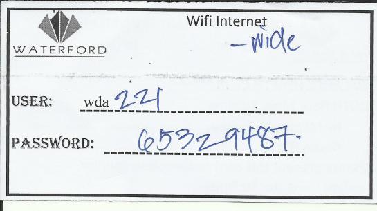 Wi-fi Internet Details