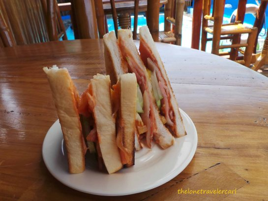 Bacon Sandwich for lunch for PhP80
