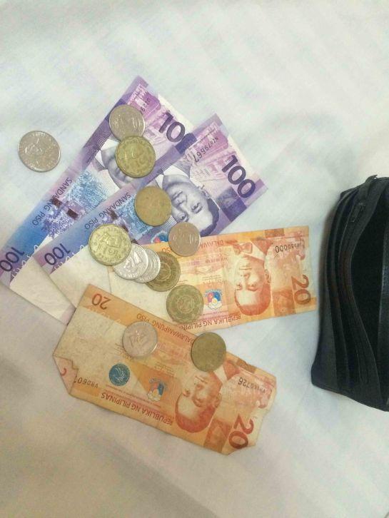 Money running like waterfalls.