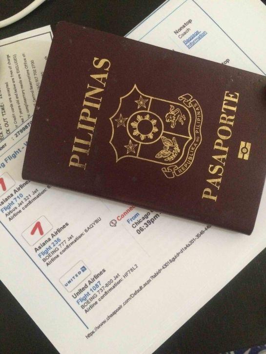 My Flight Details and Passport
