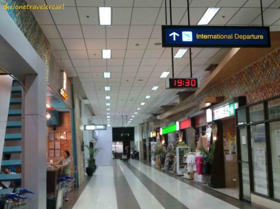 Food stalls, money changers, and airline offices