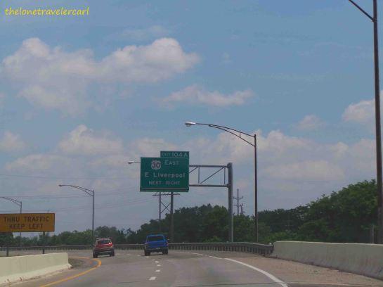 Drive going thru Interstate 77