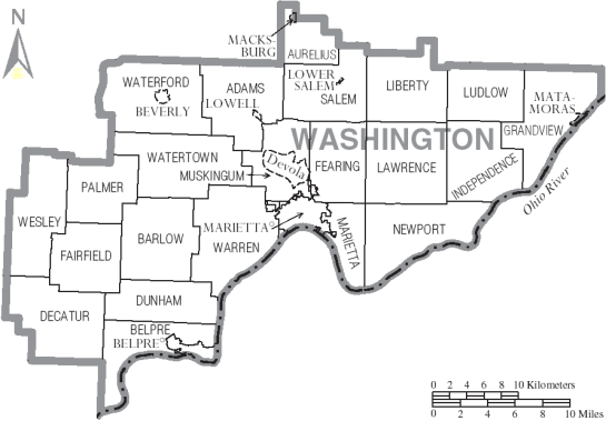 Washington County Map cr: wikipedia