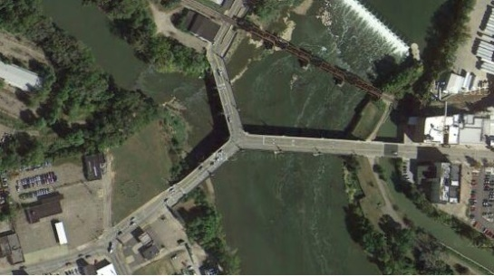Y Bridge in Zanesville, OH cr google