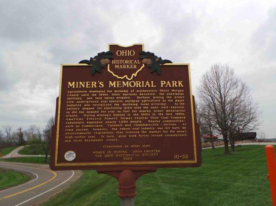Miners Memorial Park Historical Marker