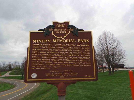Miners Memorial Park Historical Marker